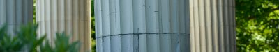 White Tacoma building columns