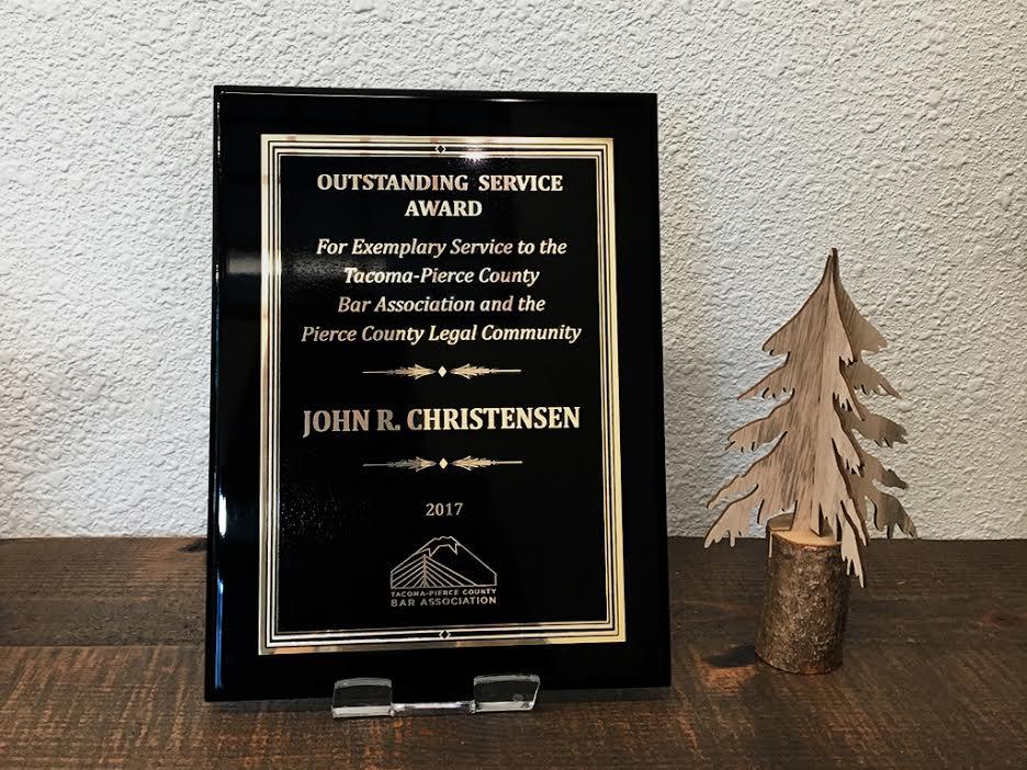 Tacoma Attorney John Christensen award