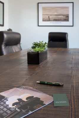 Plants on conference table at EPIC Law