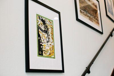 Framed Tacoma map prints at EPIC Law