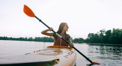 Girl on kayak in Tacoma