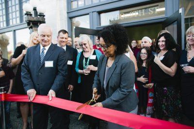 Tacoma mayor Marilyn Strickland ribbon cutting