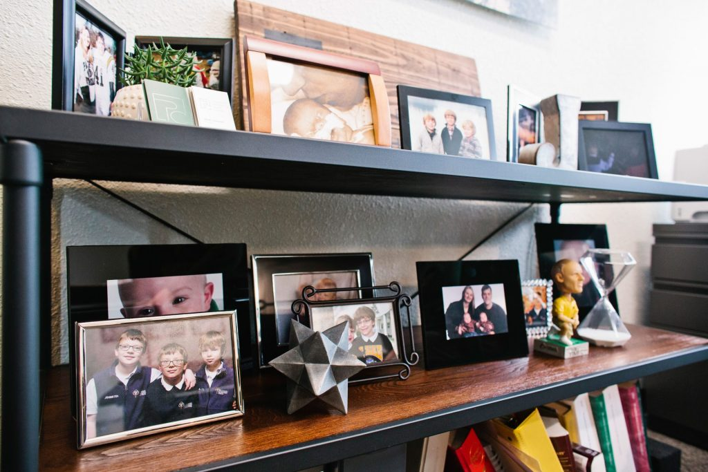 EPIC attorney Jeremy Johnston's shelf of photos