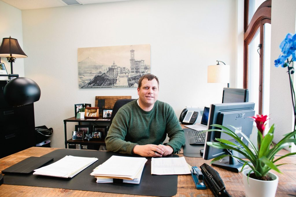 EPIC attorney Jeremy Johnston at his desk