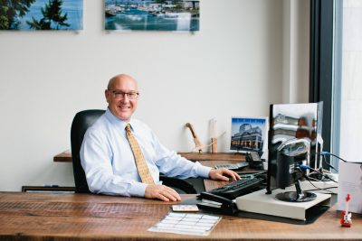John Christensen in his Tacoma EPIC office