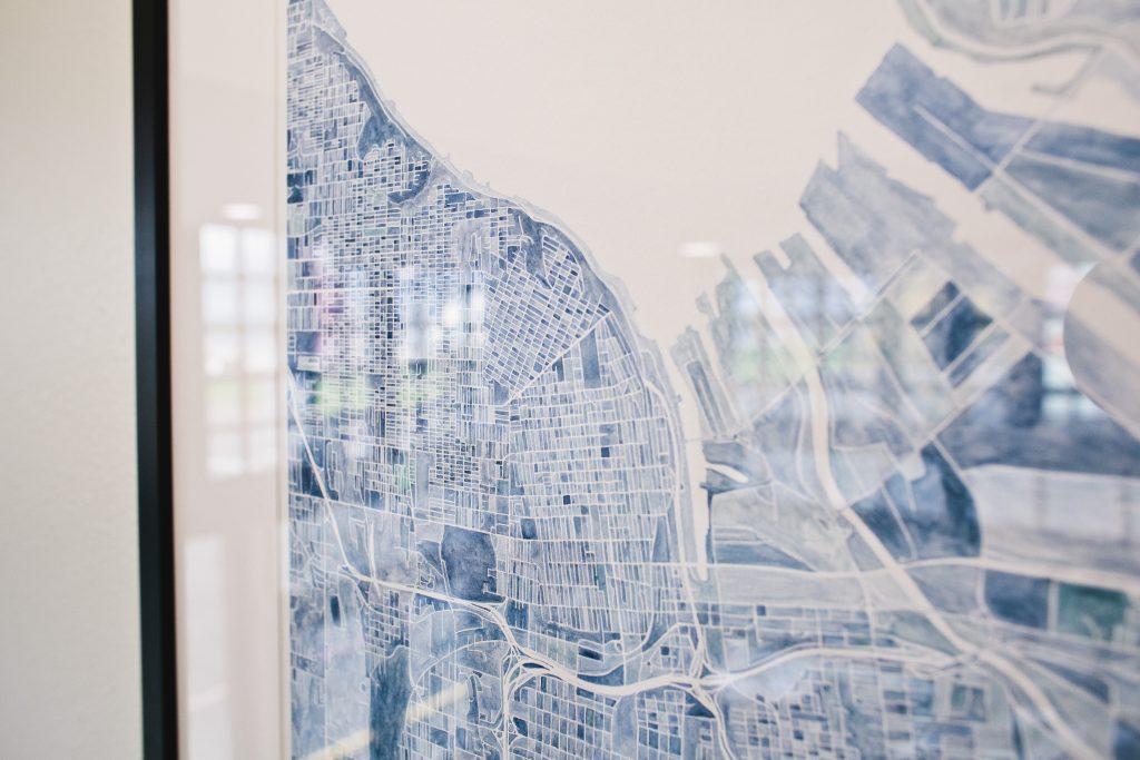Tacoma art hand-drawn map at EPIC