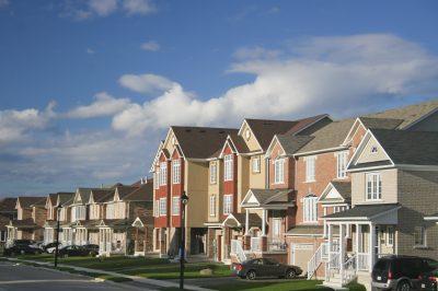 Washington houses in a neighborhood